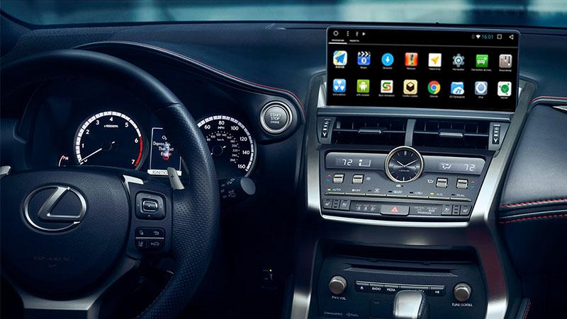 Navibox Carsys LNX-M Lexus NX (2014-2017) Android 7 мультимедийный навигационный комплекс (блок+монитор).