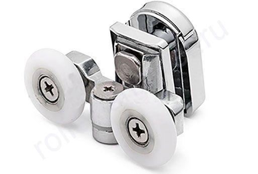 Ролики для душевой кабины Cezares - верхние.(комплект 4шт) Диаметр колеса (от18,6 до 28мм)