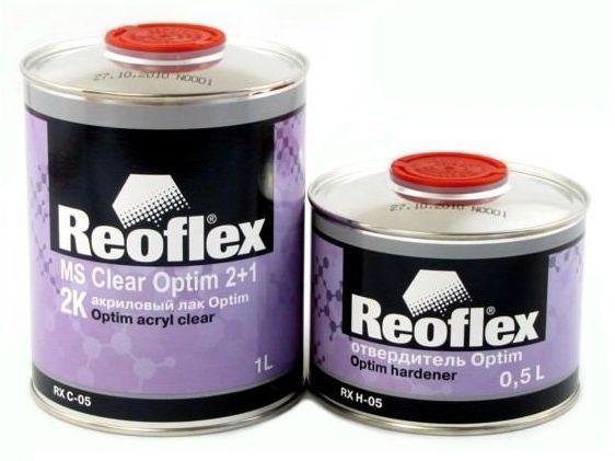 """Reoflex Лак акриловый 2K """"Optim"""" 2+1 (комплект), 1л. + 500мл."""