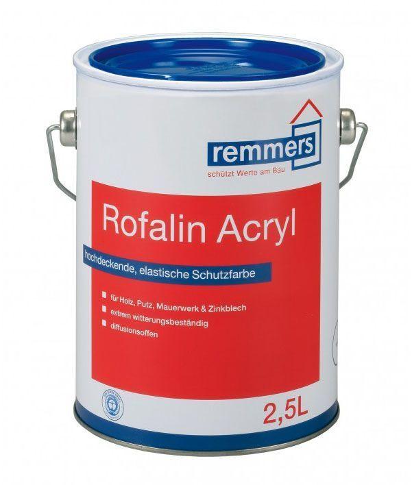 Краска Remmers Rofalin Acryl, 100% акриловая краска премиум класса, шелковисто-матовая, Германия, 2,5л