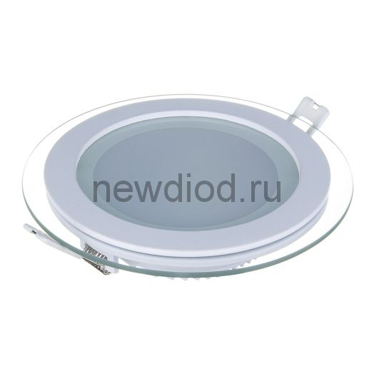 Светильник встраиваемый OREOL Glass Rlp 6W-450Lm 75/100mm 3000K