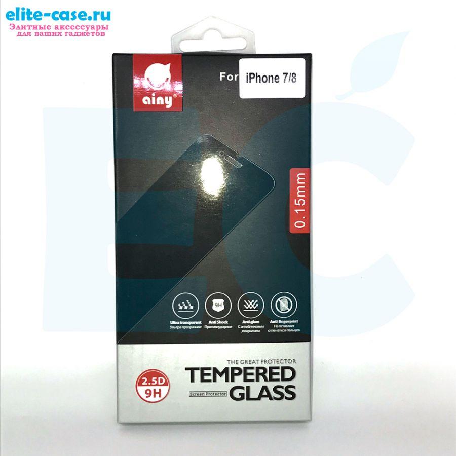 Защитное стекло Ainy GLASS для Apple iPhone 7 0.15mm