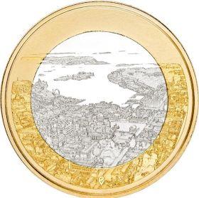Ландшафты морского Хельсинки 5 евро Финляндия 2018