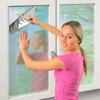 Пленка солнцезащитная зеркальная для окон (3)