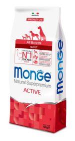 Monge Dog Speciality Active корм для активных собак с курицей 12 кг