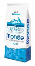 Monge Dog Speciality Light корм для собак всех пород низкокалорийный лосось с рисом 12 кг