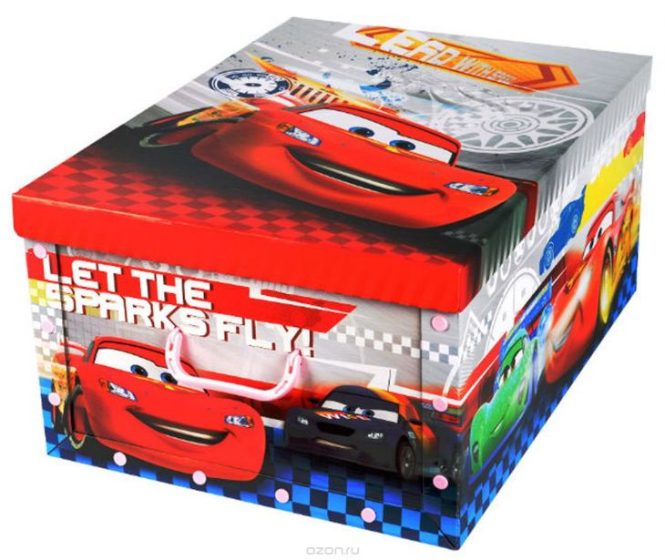 Коробка для хранения Disney Тачки 40х50х25 см