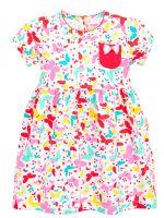Платье с бабочками,  для девочек 3-7 лет BN974