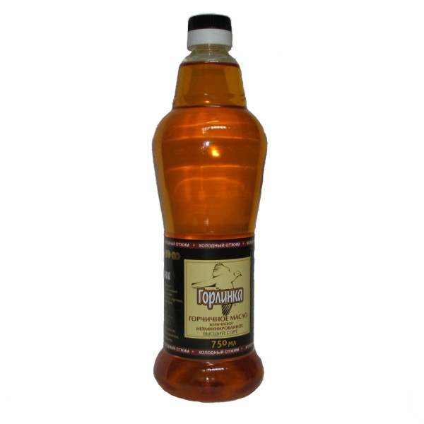 Масло горчичное холодного отжима Горлинка - 750 мл нерафинированное