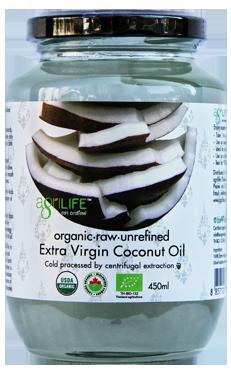 3х450 Кокосовое масло холодного отжима 450 мл Agrilife БИО нерафинированное