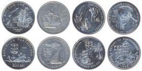 500 лет экспедиции Васко Де Гама набор из 4 монет 200 эскудо Португалия 1998
