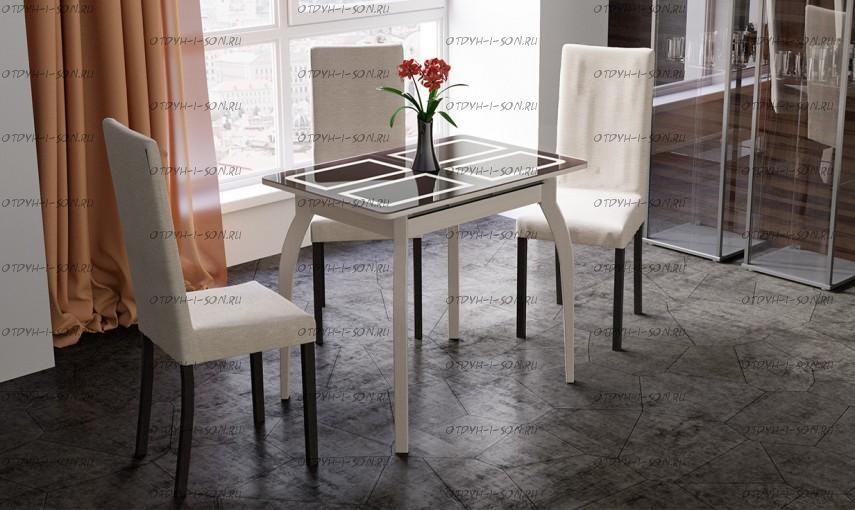 Обеденная группа: стол Рим СМ-218.01.15 + стулья Этюд Т5