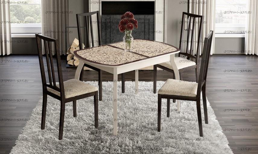 Обеденная группа: стол Сидней + стулья Этюд Т4