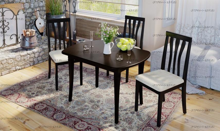 Обеденная группа: стол Альт СМ (Б)-101.01.11(1) + стулья Пегас