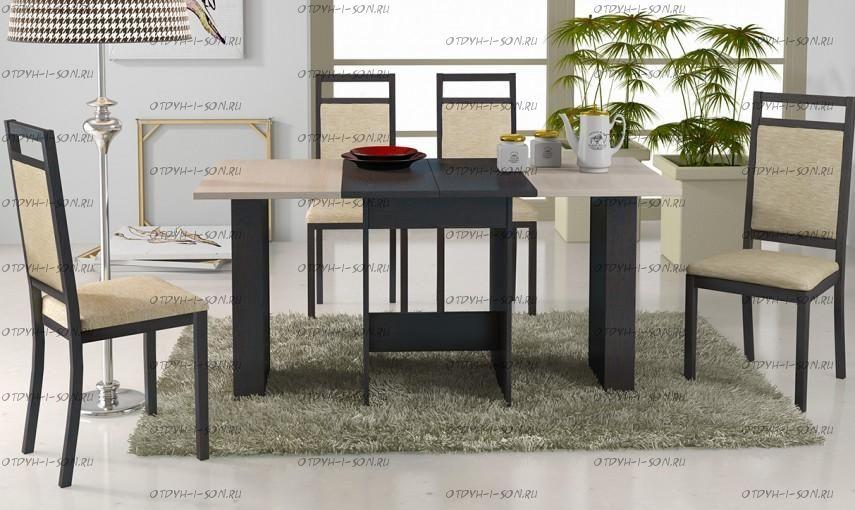 Обеденная группа: стол Кельн Т1 + стулья Гамма Т2