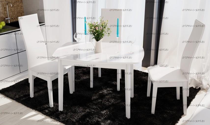 Обеденная группа: стол Портофино СМ(ТД)-105.01.11(2) + стулья Элегия