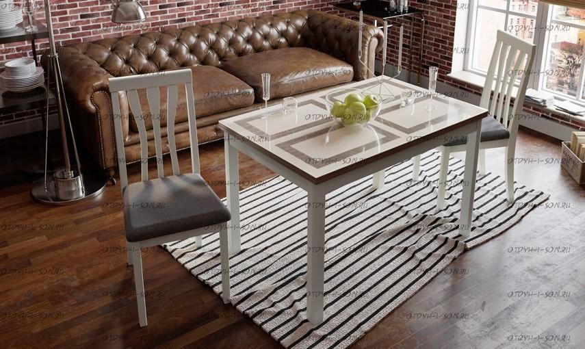 Обеденная группа: стол Мельбурн СМ (Б)-100.11.12(1) + стулья Пегас
