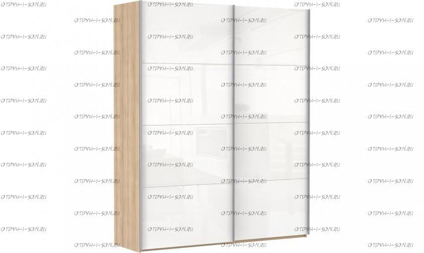 Шкаф-купе Эста, 2 двери, стекло белое
