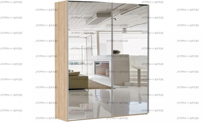 Шкаф-купе Эста, 2 двери, зеркала