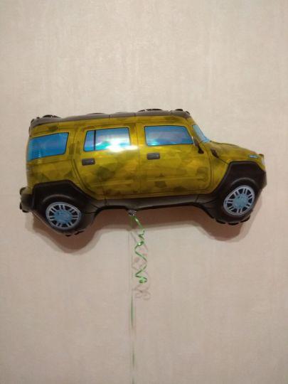 Джип Хаммер фольгированный шар с гелием
