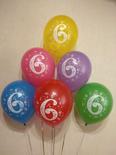 С цифрой 0-10 латексные шары с гелием