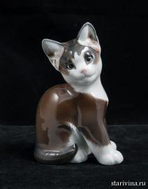 Черно-белый котенок. Rosenthal, Германия. 1960-е.