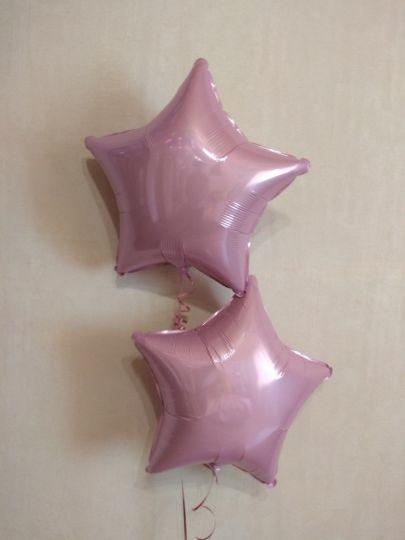 Звезда розовая шар фольгированный с гелием