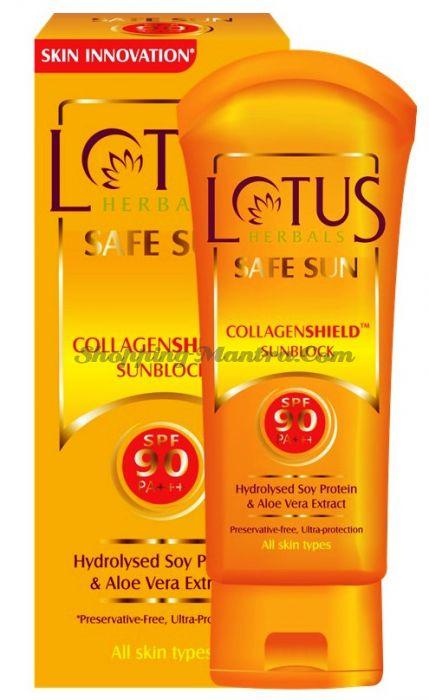 Антивозрастной протеиновый крем с защитой SPF90 Лотус Хербалс /Lotus CollagenShield Sunblock
