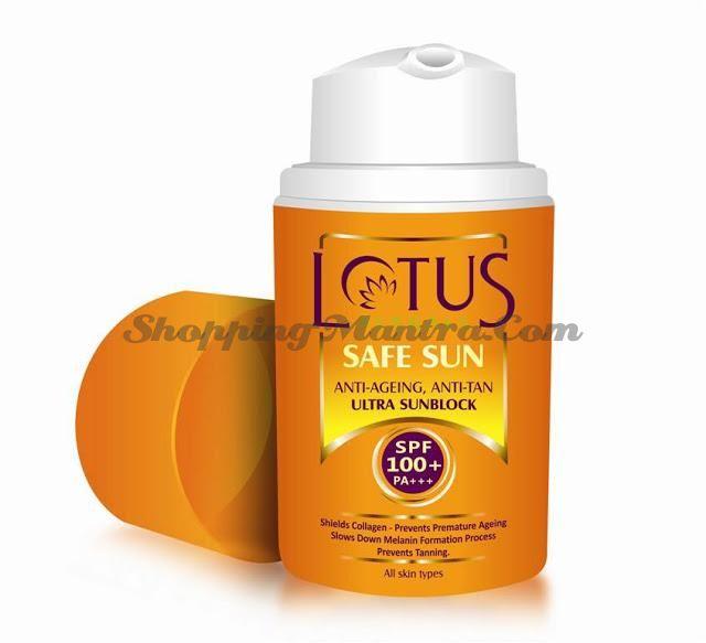 Антивозрастной солнцезащитный крем SPF100 Лотус Хербалс   Lotus Herbals Anti-Ageing Anti Tan Block SPF100