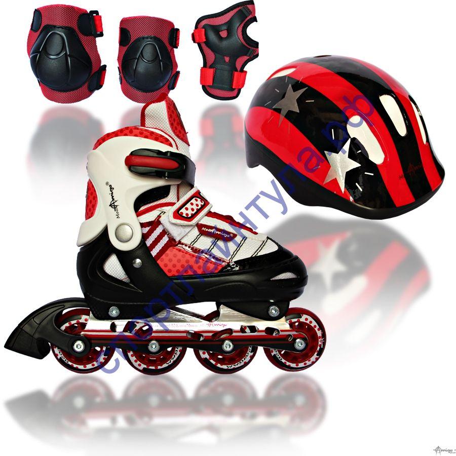 Комплекты роликовых коньков COMBO JET RED