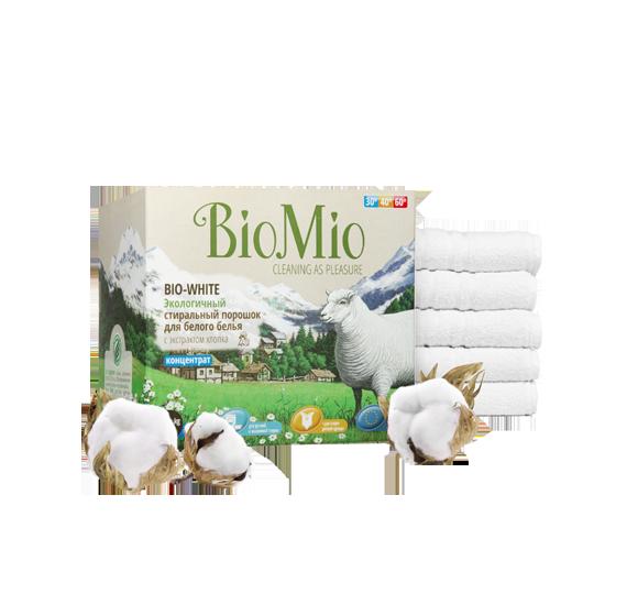 Стиральный порошок для белого белья Без Запаха Концентрат  BioMio (БиоМио) 1500 гр