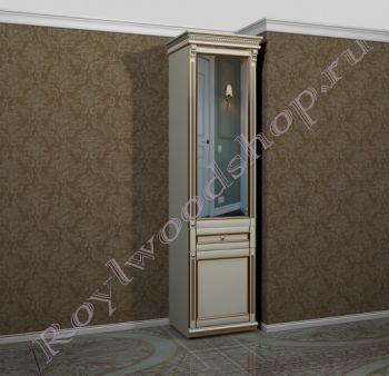 """Шкаф зеркальный """"Руссильон PROVENCE-60 светлое дерево"""". Модуль 7"""