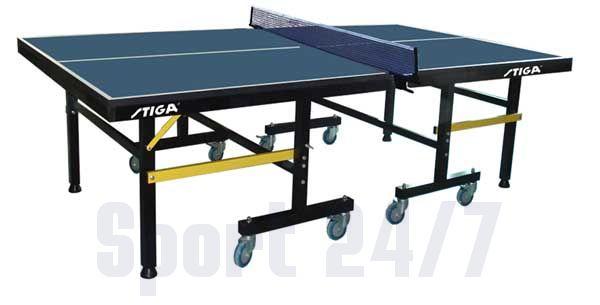 Теннисный стол профессиональный Stiga Premium Roller, ITTF (синий) T-235