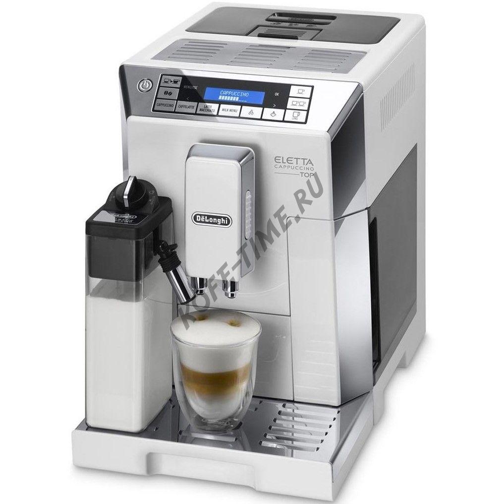 Кофемашина DeLonghi ECAM 45.764 W Eletta Cappucino Top