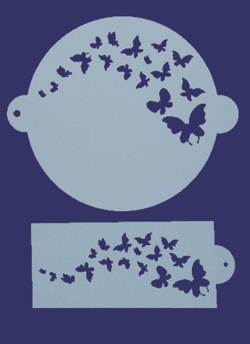 "Трафарет для выпечки ""Бабочки"" D23см"