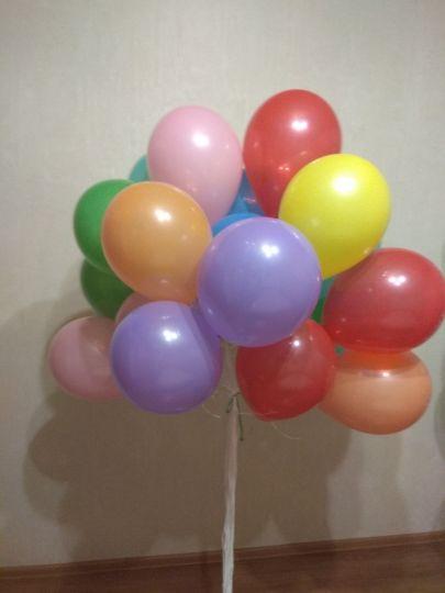 Ассорти яркое МИНИ шаров 25 см маленького размера с гелием