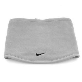 Чёрно-серая двусторонняя флисовая повязка на шею Nike reversible fleece neck warmer