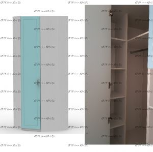 Шкаф угловой Teen`s Home 2 / Lite (84х84х216)