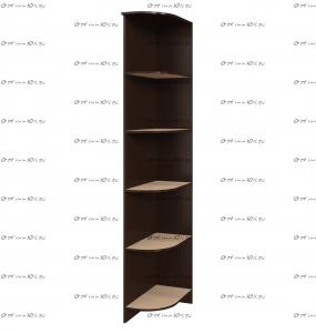Стеллаж угловой Белла (400x470x2120) (Гостиная)