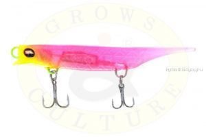 Силиконовый воблер Grows Culture Viper 80 мм / 7 гр / цвет Chartreuse-Head-Pink