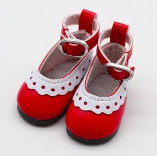 Туфельки для куклы, 4,5 см Красные