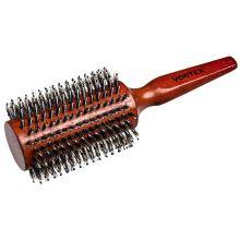 """""""Банные штучки"""" Расческа деревянная, брашинг, D-75мм, с пластиковыми зубчиками и натуральной щетиной """"VORTEX"""" 51028"""