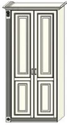 Шкаф двухдверный  Ферсия с одной пилястрой слева, для белья (модуль 26)