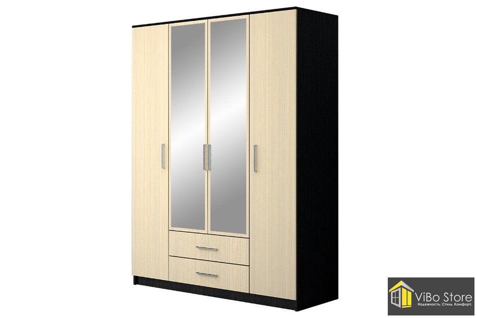 Современный четырехдверный шкаф Николь