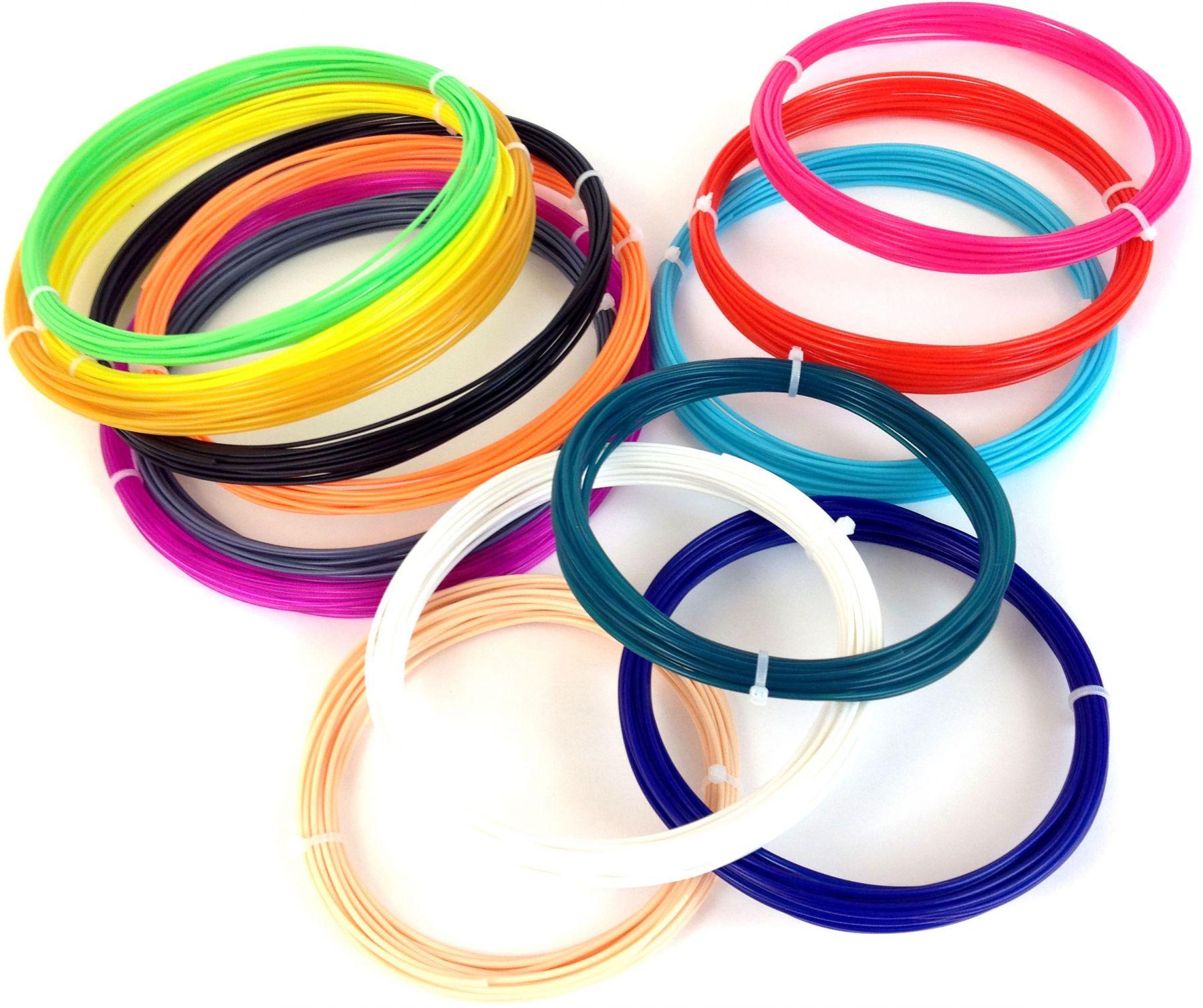 Купить Набор пластика для 3d ручки 10 цветов недорого с доставкой