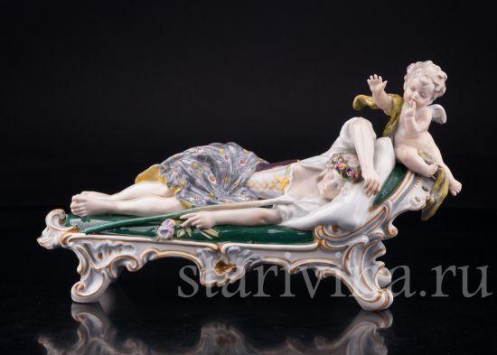 Изображение Спящая девушка и амур, Karl Ens, Германия, кон.19-нач.20 вв
