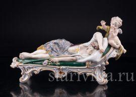 Спящая девушка и амур, Karl Ens, Германия, кон.19-нач.20 вв