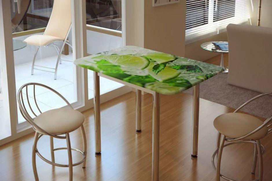 Кухонный стол с принтом Лайм (БТС)