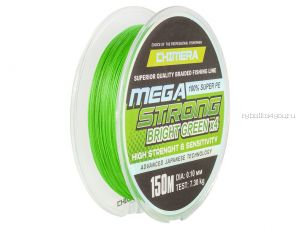 Шнур плетеный Chimera Megastrong Bright Green 150м