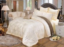 Комплект постельного белья Сатин-жаккард  Donna Dolce  (молочный)  евро Арт.586/3